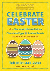 Easter time at Charwood, Edinburgh restaurant